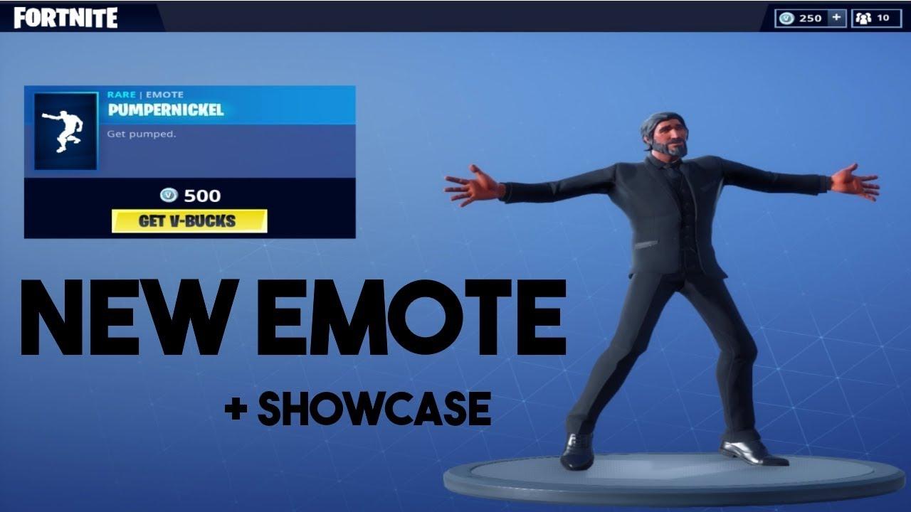 New Pumpernickel Dance Emote Showcase Of It Fortnite Br