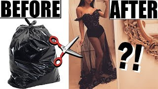 MAKING A DRESS OUT OF TRASH BAGS