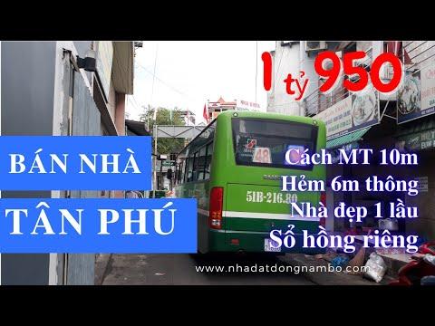 Video nhà bán quận Tân Phú dưới 2 tỷ, Sổ hồng riêng, hẻm 6m Lê Trọng Tấn, cách MT 10m, tiện kinh doanh