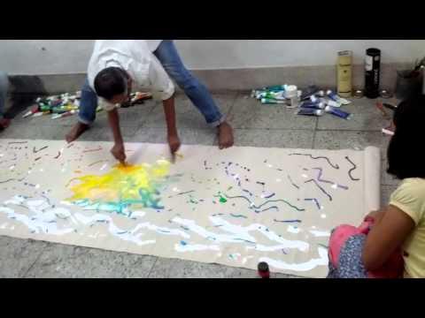 Abstract Expressionism Painting by Santanu Pramanik