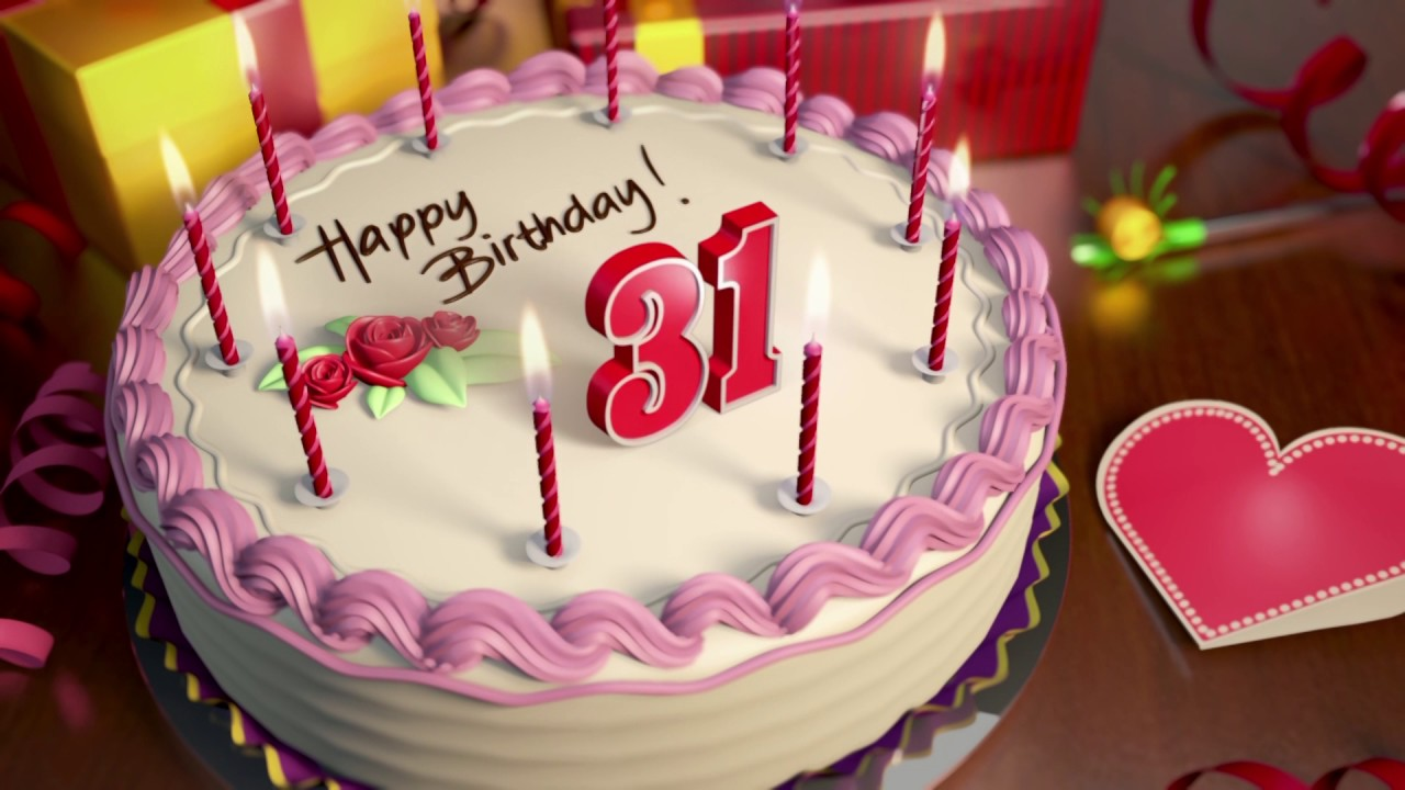 Happy 31st Birthday Cake Animation