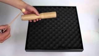 Tone Block / Guiro Beech 2 Tone + Beater - 3+ video