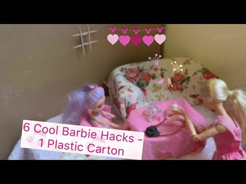 6 Cool DIY Barbie Hacks Made From a Plastic Carton