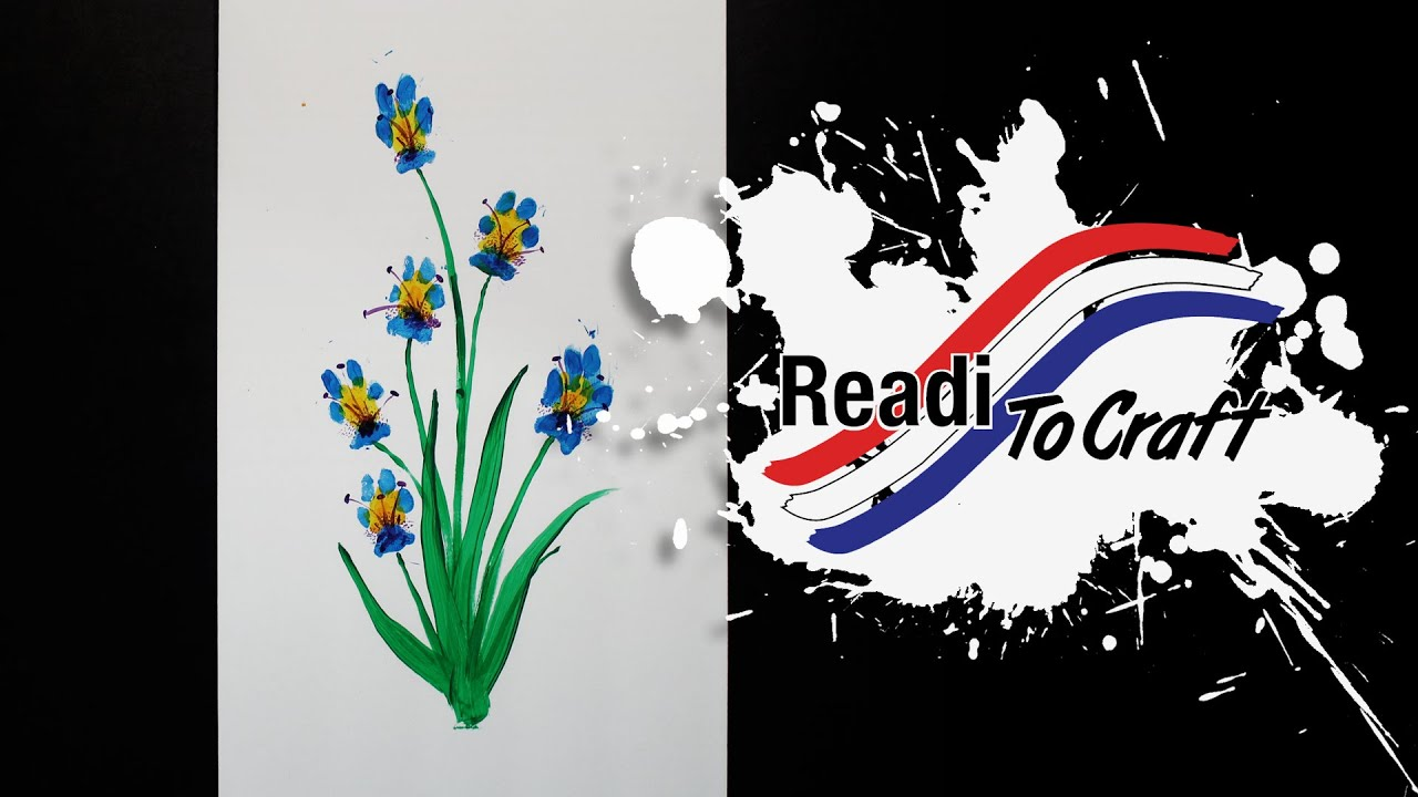 Readi to Craft: Paw Print Flowers