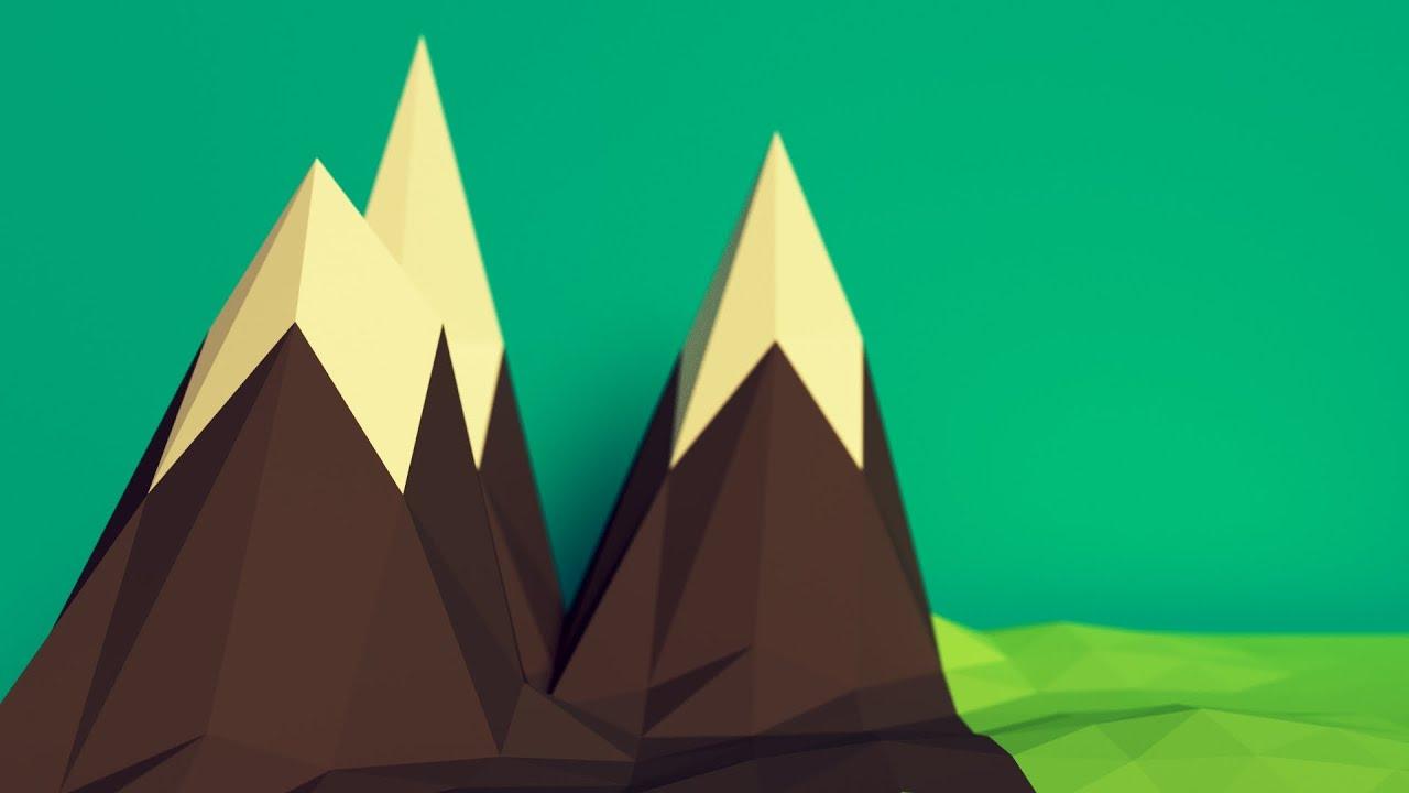 Blender tutorial low poly mountains youtube baditri Choice Image