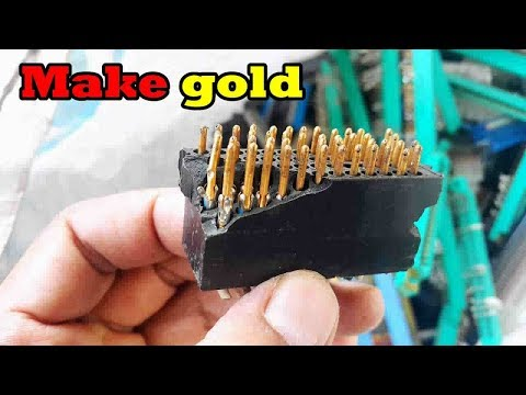 searching for electronics ic chip connector make gold recovery