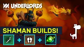 SHAMAN & TROLL BUILDS! Chick & Bears Zoo Combo! | Dota Underlords