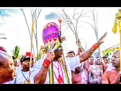 Download Ooni Of Ife Appeared In Sacred Crown @ Olojo Festival 2020