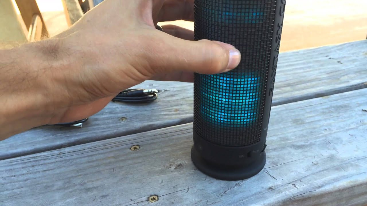 speakers in amazon. bluetooth speakers, pixnor® portable powerful led - amazon speakers in