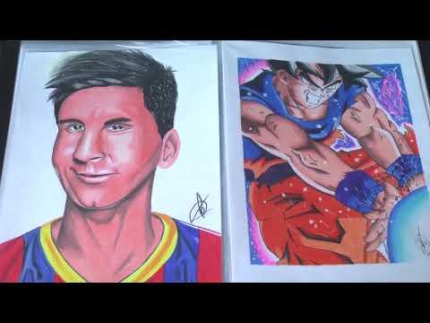 Garoto de Guaxupé impressiona com desenhos realistas