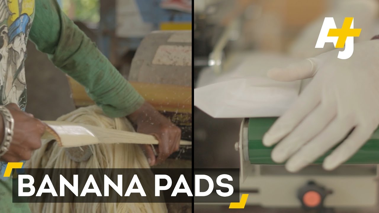 Banana fiber sanitary pads can solve big problems in India