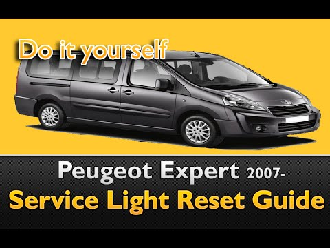 Peugeot Expert 2007- Service Light Reset Guide - YouTube