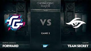[EN] Forward Gaming vs Team Secret, Game 2, The Chongqing Major Group B