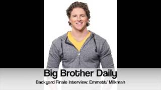 big brother canada bb daily backyard finale interview emmett milkman