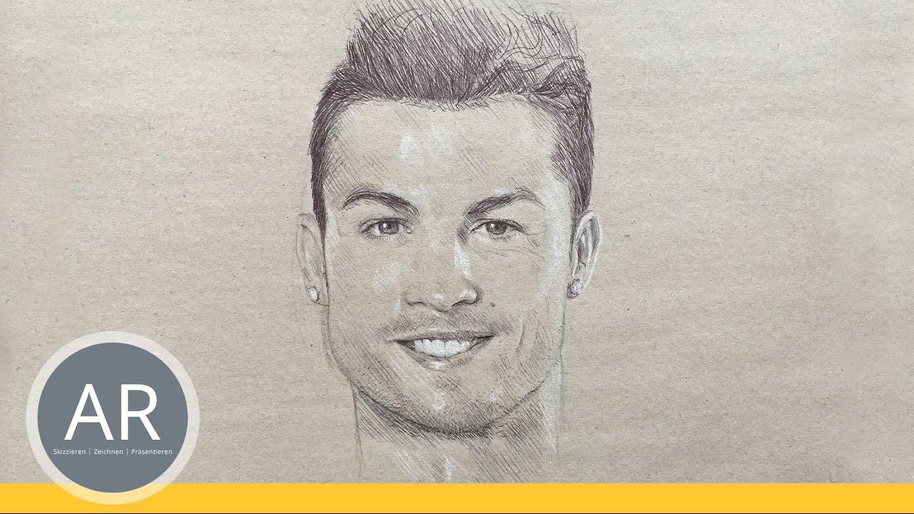 Fussball Stars Portrat Zeichnen Lernen Ideal Zu Uben Mappenkurs Kunst