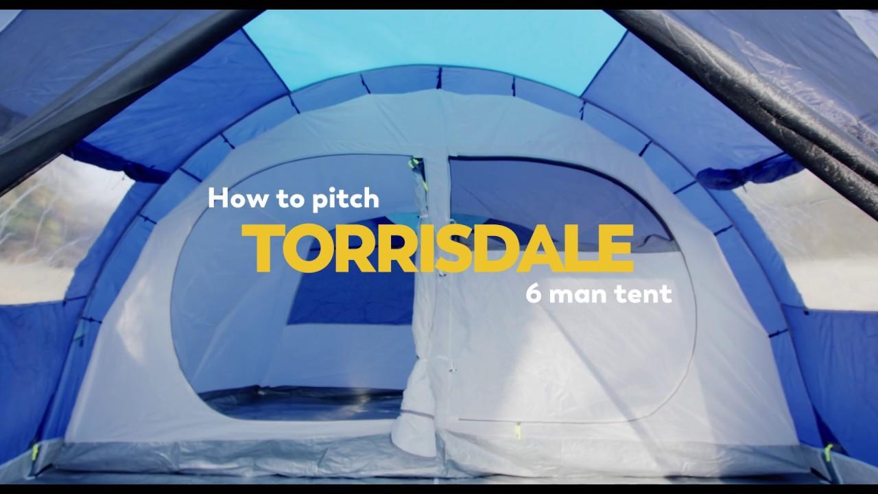 Torrisdale 6 personers telt til outdoor og campingture