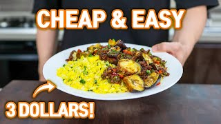 3 Dollar Easy & Cheap Meal that College Students Can Make! l Eggplants with Egg Fried Rice!