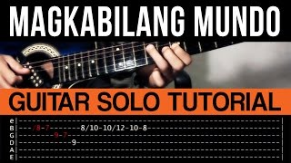 Magkabilang Mundo Jireh Lim Guitar Solo Tutorial (NO CAPO Version) (WITH TAB)