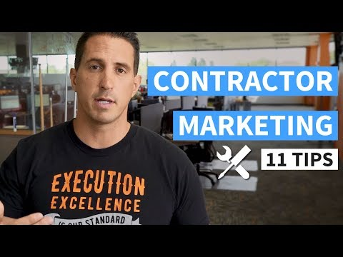 Contractor Marketing - 11 Tips