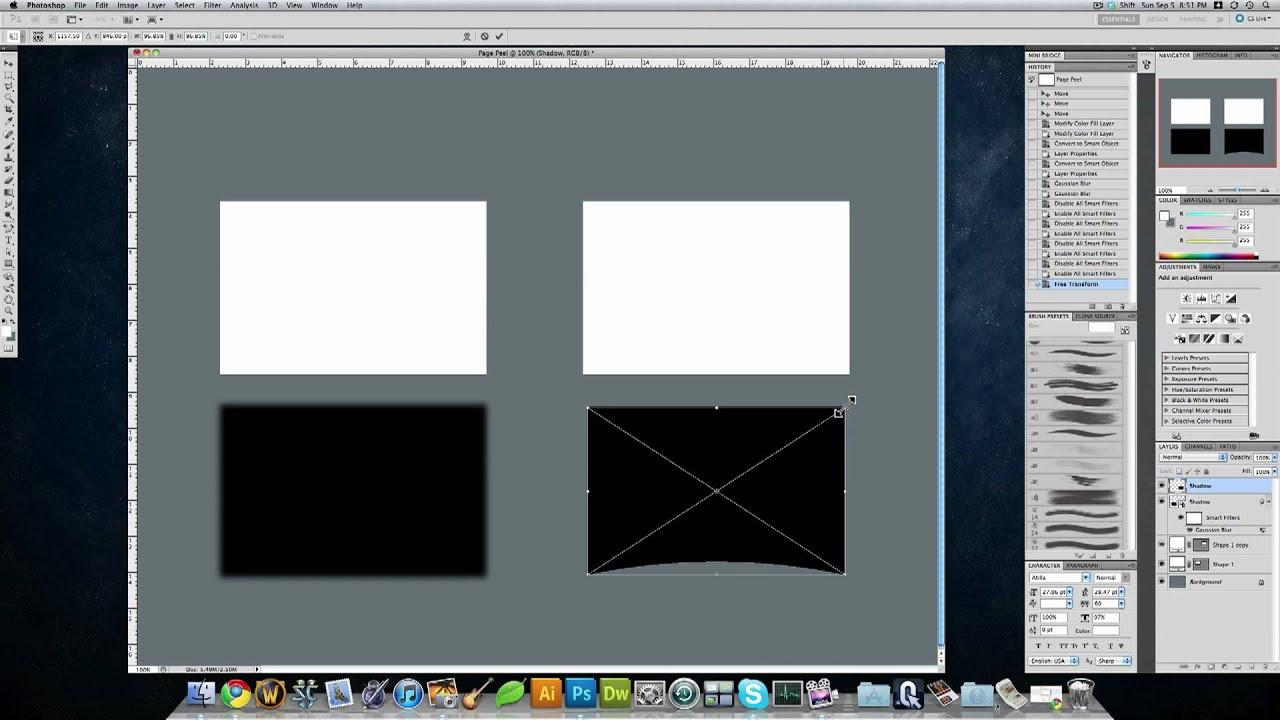 how to create drop shadow photoshop