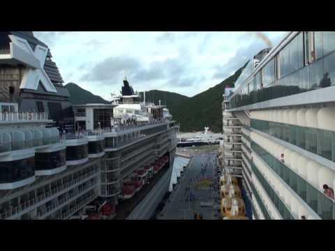 Quantum of the Seas: Inaugural St. Maarten Arrival & Departure (Adventure, Constellation, & Azura)