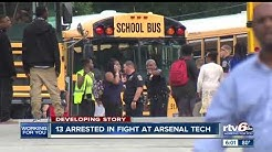 13 arrested, 8 injured in fight at Arsenal Tech HS