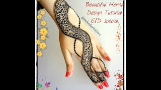 diy best and beautiful henna mehndi design tutorial for party weddings eid special