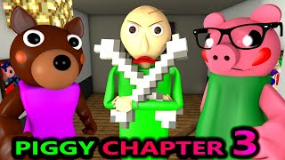 PIGGY CHAPTER 3 vs BALDI ROBLOX SPEEDRUNNER CHALLENGE SONIC Gallery horror Peppa Minecraft Animation