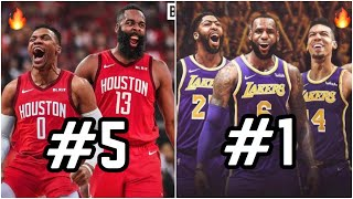 Ranking ALL 30 Starting 5's For the 2019-20 NBA Season! | Los Angeles Lakers With LeBron James at #1
