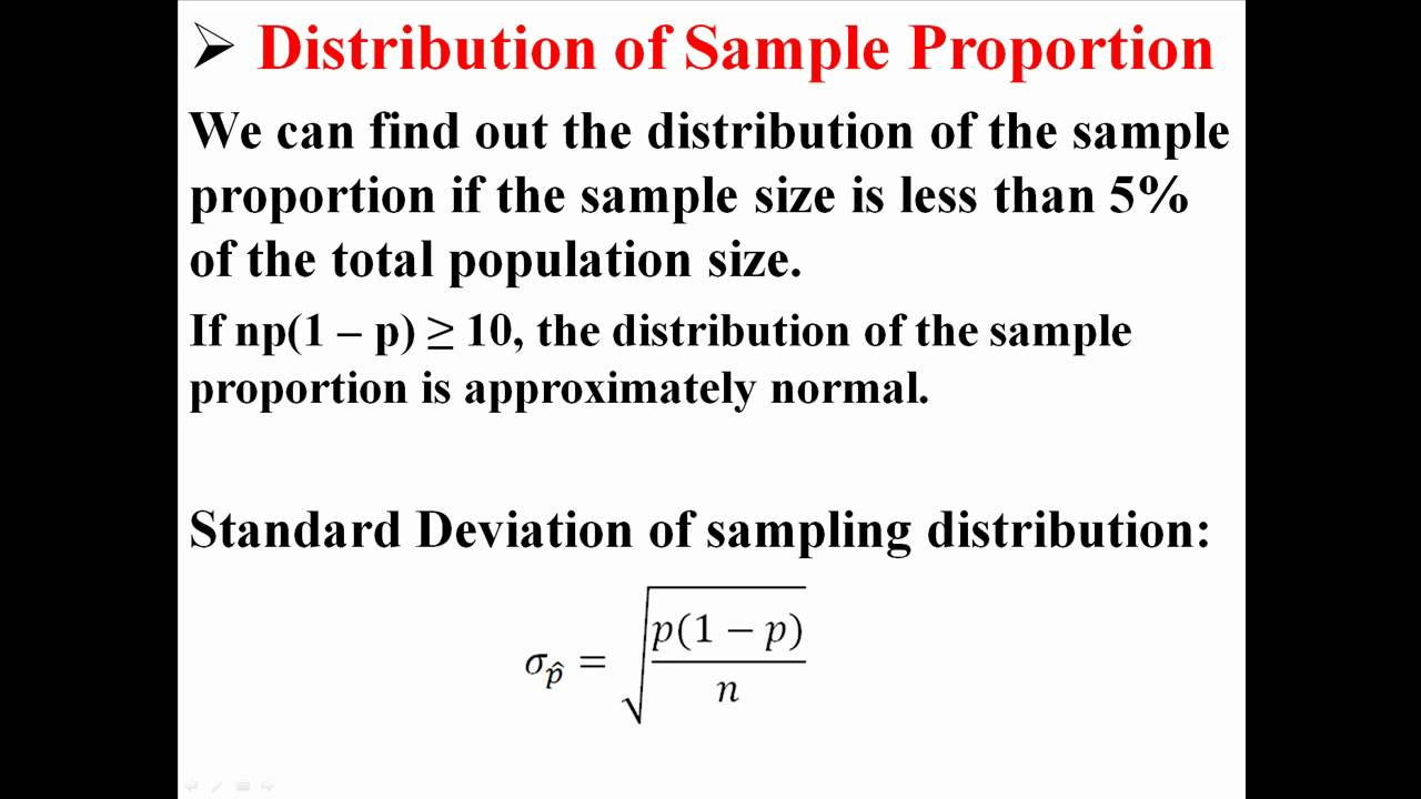 Sample Proportions - YouTube
