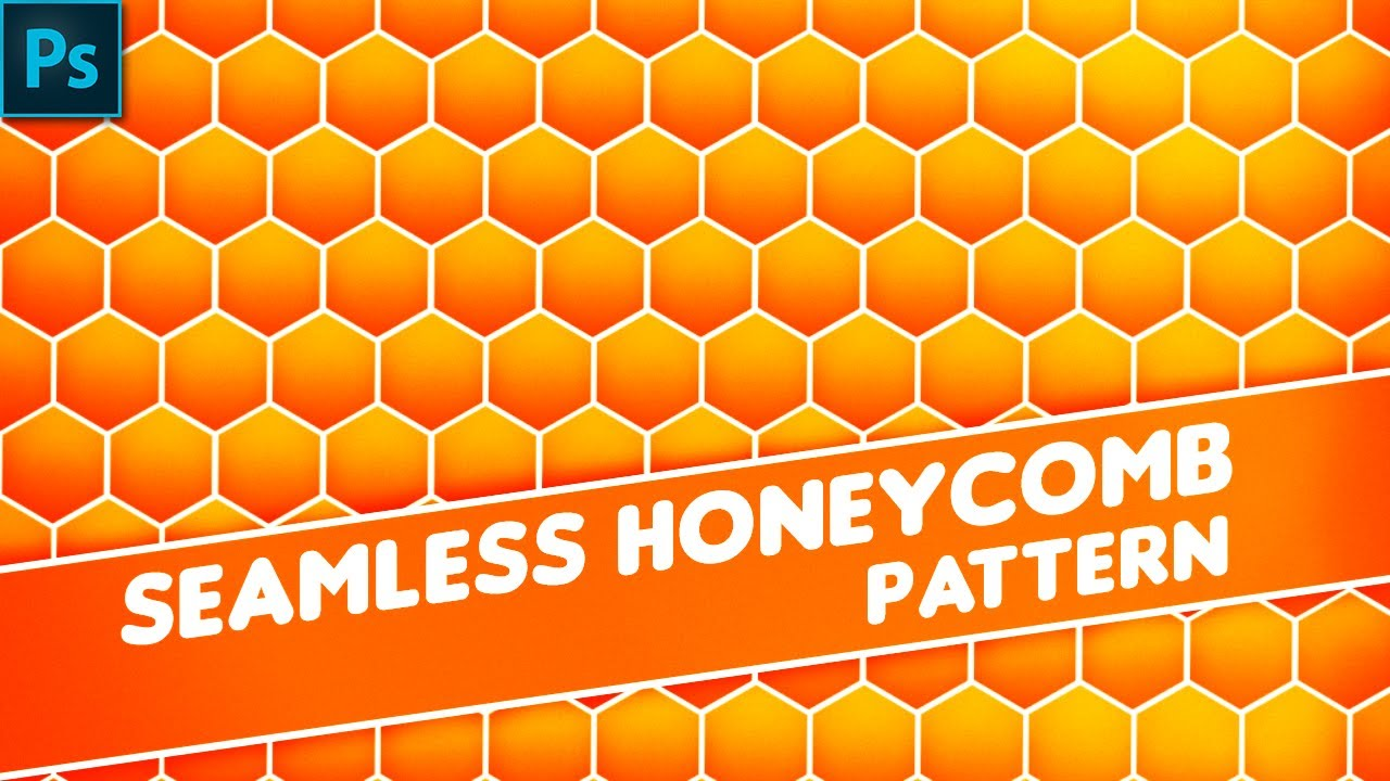 Photoshop Tutorial How To Create Seamless Honeycomb