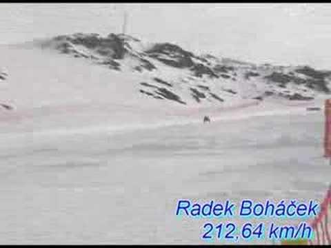 Radek Bohacek, Les Arcs 2007, 212 km/h
