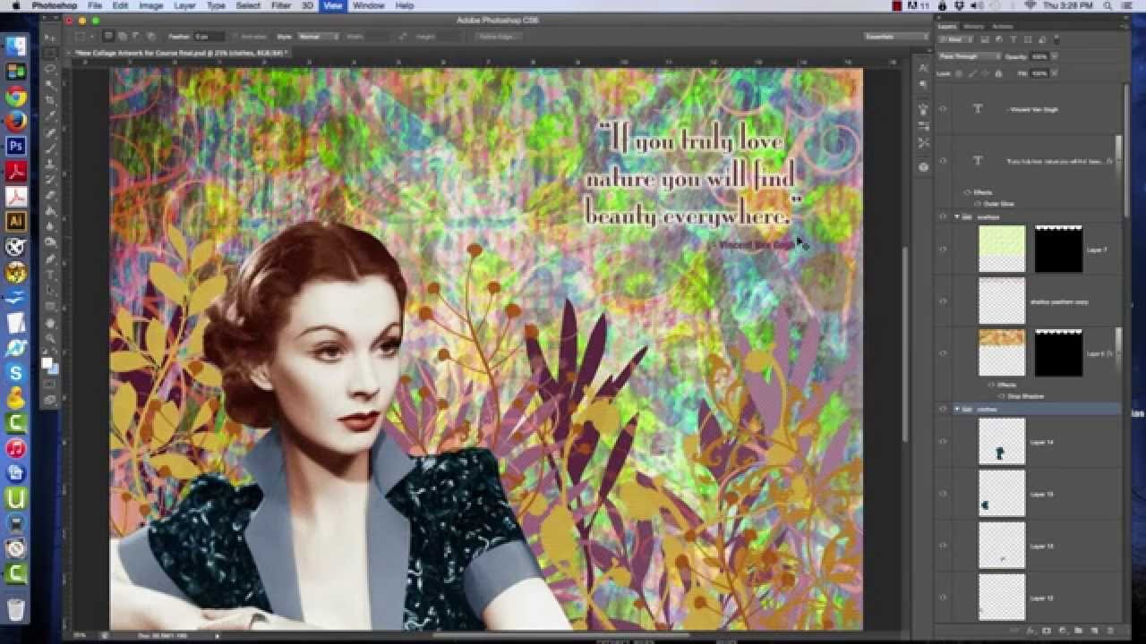 How To Photoshop Collage Art: Layers Walkthru On Photoshop Collage ...
