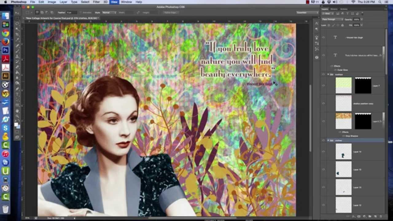 How To Photoshop Collage Art: Layers Walkthru On Photoshop ...