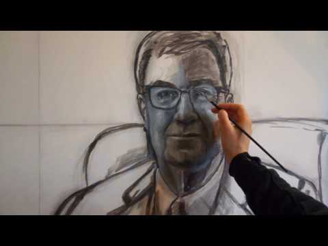 Portrait of Mayor - Grisaille Underpainting