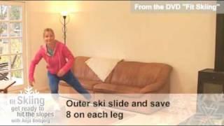 Ski exercise: Complete ski fitness programs on video w/ follow-along ski workouts to do at home