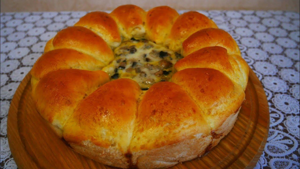 УДИВИТЕ ВСЕХ !! Невероятно ВКУСНЫЙ и КРАСИВЫЙ пирог БУЛОЧКИ РОЛЛЫ с грибным соусом