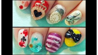 Tutorial : Nail Art 1 • Alice in Wonderland Thumbnail
