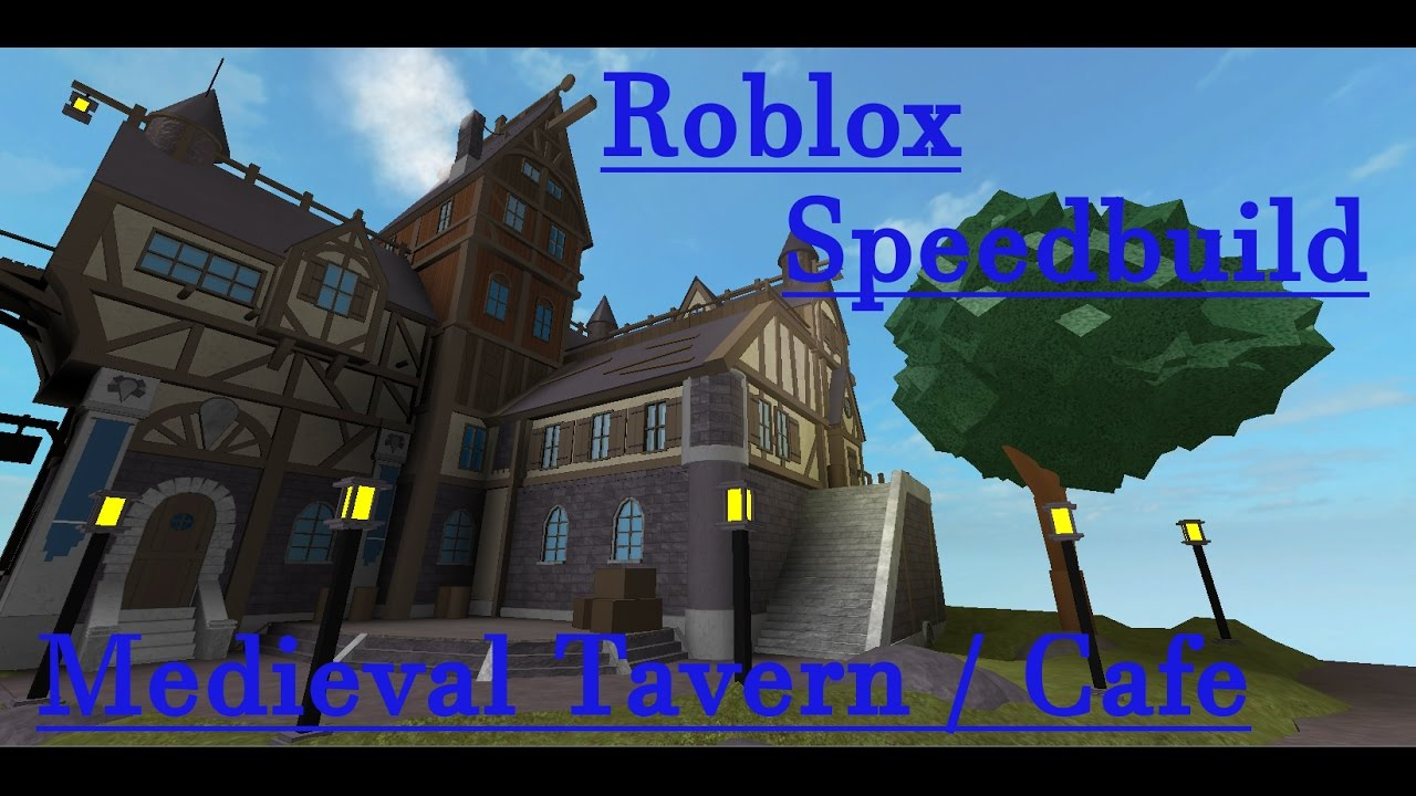 Roblox Studio Speed Build Medieval Tavern Cafe Youtube