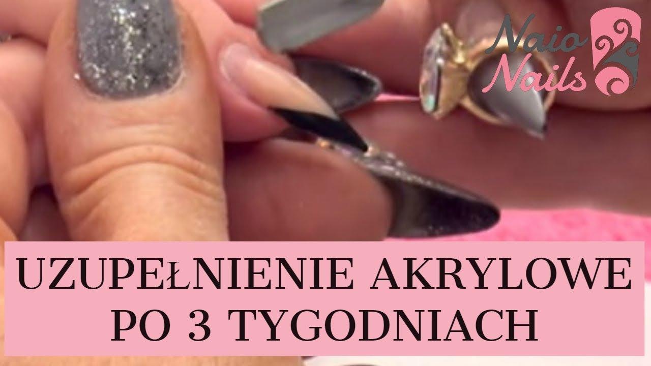 Uzupelnienie Akrylowe Po 3 Tygodniach Tutorial Naio Nails Youtube