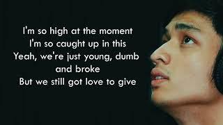 Michael Pangilinan - Young Dumb and Broke (Cover)(Lyrics)