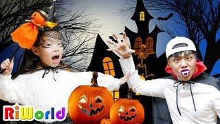 여긴 어디지? 리원이의 할로윈 특집 귀신의 집 고스트 호박 해골 Halloween Special House