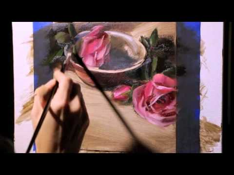 A painting demonstration by Pamela Blaies - Antique Roses