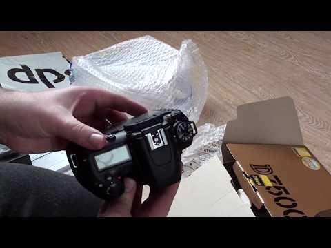 Распаковка NIKON D7500