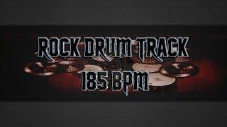 Angry Rock Drum Track 185 BPM (HQ,HD)