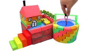 Download DIY How To Make Wells Villa with Shape It Sand, Car Toys and Learn Colors Mp3 and Videos