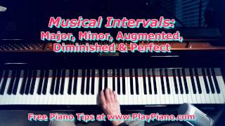 Musical Intervals: Major, Minor, Augmented, Diminished & Perfect