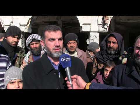 وقفة احتجاجية في دوما رفضاً لقرار ترامب حول القدس  - 09:20-2017 / 12 / 10