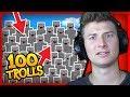 100 CAMO TROLLS vs 2 Noobs and 1 Professional HIDE AND SEEK!