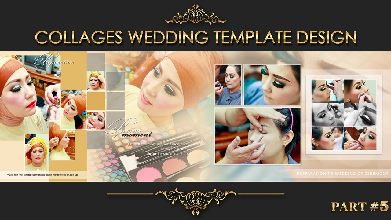 Elegant inspiration collages album wedding photoshop part 5 youtube maxwellsz